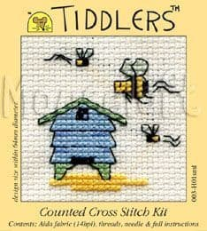 Mouseloft Beehive Tiddlers cross stitch kit
